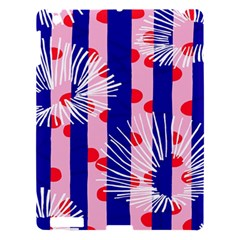 Line Vertical Polka Dots Circle Flower Blue Pink White Apple Ipad 3/4 Hardshell Case by Mariart