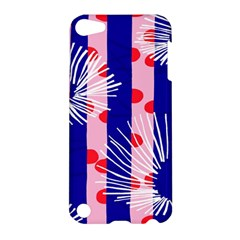 Line Vertical Polka Dots Circle Flower Blue Pink White Apple Ipod Touch 5 Hardshell Case by Mariart