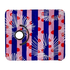 Line Vertical Polka Dots Circle Flower Blue Pink White Galaxy S3 (flip/folio) by Mariart