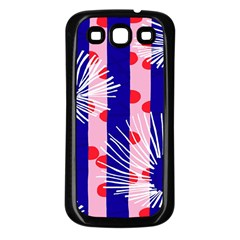 Line Vertical Polka Dots Circle Flower Blue Pink White Samsung Galaxy S3 Back Case (black) by Mariart