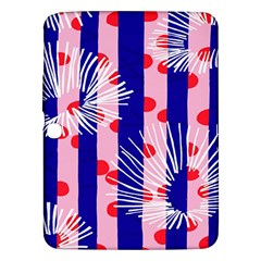 Line Vertical Polka Dots Circle Flower Blue Pink White Samsung Galaxy Tab 3 (10 1 ) P5200 Hardshell Case