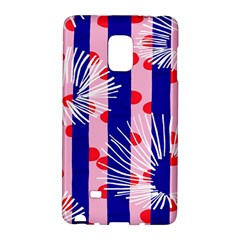 Line Vertical Polka Dots Circle Flower Blue Pink White Galaxy Note Edge by Mariart