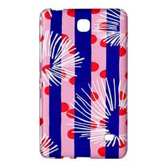 Line Vertical Polka Dots Circle Flower Blue Pink White Samsung Galaxy Tab 4 (8 ) Hardshell Case  by Mariart