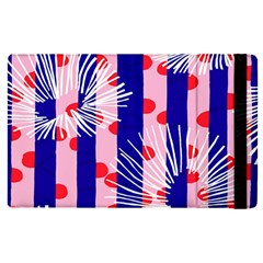 Line Vertical Polka Dots Circle Flower Blue Pink White Apple Ipad Pro 9 7   Flip Case by Mariart