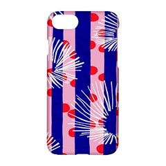 Line Vertical Polka Dots Circle Flower Blue Pink White Apple Iphone 7 Hardshell Case by Mariart