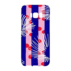 Line Vertical Polka Dots Circle Flower Blue Pink White Samsung Galaxy S8 Hardshell Case  by Mariart