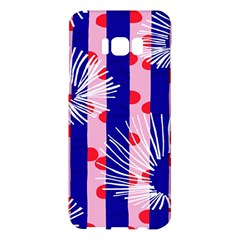 Line Vertical Polka Dots Circle Flower Blue Pink White Samsung Galaxy S8 Plus Hardshell Case  by Mariart