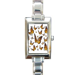 Butterfly Spoonflower Rectangle Italian Charm Watch by Mariart