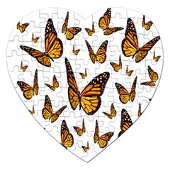 Butterfly Spoonflower Jigsaw Puzzle (heart) by Mariart