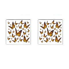 Butterfly Spoonflower Cufflinks (square) by Mariart