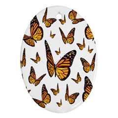 Butterfly Spoonflower Oval Ornament (two Sides) by Mariart