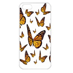 Butterfly Spoonflower Apple Iphone 5 Seamless Case (white) by Mariart