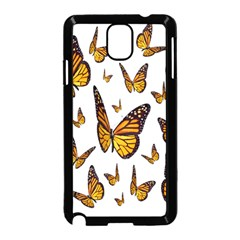 Butterfly Spoonflower Samsung Galaxy Note 3 Neo Hardshell Case (black) by Mariart