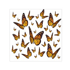 Butterfly Spoonflower Small Satin Scarf (square)