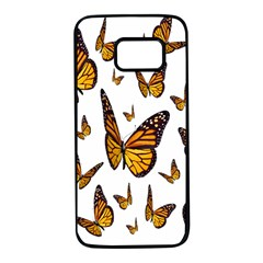 Butterfly Spoonflower Samsung Galaxy S7 Black Seamless Case