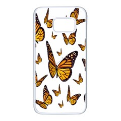 Butterfly Spoonflower Samsung Galaxy S7 White Seamless Case by Mariart