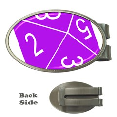 Number Purple Money Clips (oval)  by Mariart
