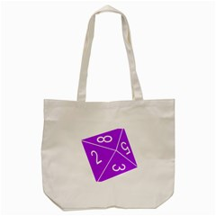 Number Purple Tote Bag (cream) by Mariart