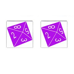 Number Purple Cufflinks (square) by Mariart