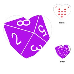 Number Purple Playing Cards (heart)  by Mariart