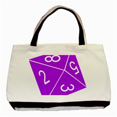 Number Purple Basic Tote Bag (two Sides) by Mariart