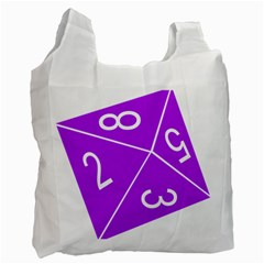 Number Purple Recycle Bag (one Side) by Mariart