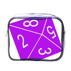 Number Purple Mini Toiletries Bags by Mariart