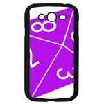 Number Purple Samsung Galaxy Grand DUOS I9082 Case (Black) Front