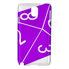 Number Purple Samsung Galaxy Note 3 N9005 Hardshell Case by Mariart