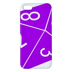 Number Purple Iphone 5s/ Se Premium Hardshell Case by Mariart