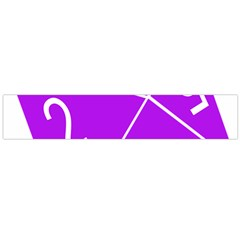 Number Purple Flano Scarf (large) by Mariart
