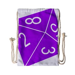 Number Purple Drawstring Bag (small) by Mariart