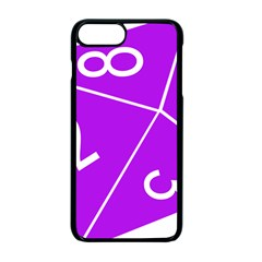 Number Purple Apple Iphone 7 Plus Seamless Case (black) by Mariart