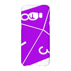 Number Purple Samsung Galaxy S8 Hardshell Case