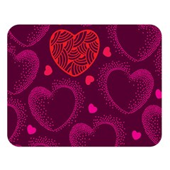 Love Heart Polka Dots Pink Double Sided Flano Blanket (large)  by Mariart