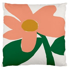 Peach Sunflower Flower Pink Green Large Cushion Case (two Sides) by Mariart