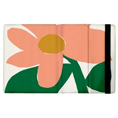 Peach Sunflower Flower Pink Green Apple Ipad 3/4 Flip Case by Mariart