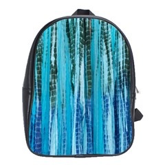 Line Tie Dye Green Kaleidoscope Opaque Color School Bags(large)  by Mariart