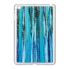 Line Tie Dye Green Kaleidoscope Opaque Color Apple Ipad Mini Case (white) by Mariart