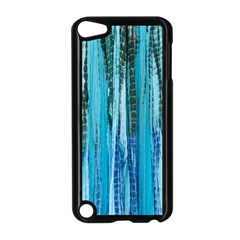 Line Tie Dye Green Kaleidoscope Opaque Color Apple Ipod Touch 5 Case (black) by Mariart
