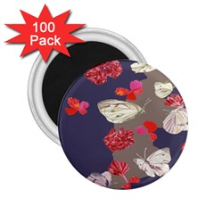 Original Butterfly Carnation 2 25  Magnets (100 Pack)  by Mariart