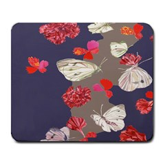 Original Butterfly Carnation Large Mousepads by Mariart