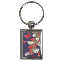 Original Butterfly Carnation Key Chains (rectangle)  by Mariart