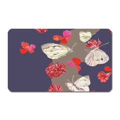 Original Butterfly Carnation Magnet (rectangular) by Mariart