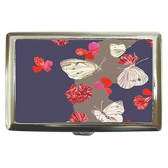Original Butterfly Carnation Cigarette Money Cases by Mariart