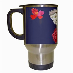 Original Butterfly Carnation Travel Mugs (white) by Mariart