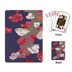Original Butterfly Carnation Playing Card by Mariart