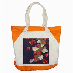 Original Butterfly Carnation Accent Tote Bag by Mariart