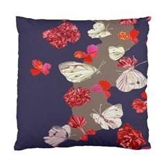 Original Butterfly Carnation Standard Cushion Case (two Sides) by Mariart