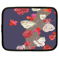 Original Butterfly Carnation Netbook Case (xl)  by Mariart